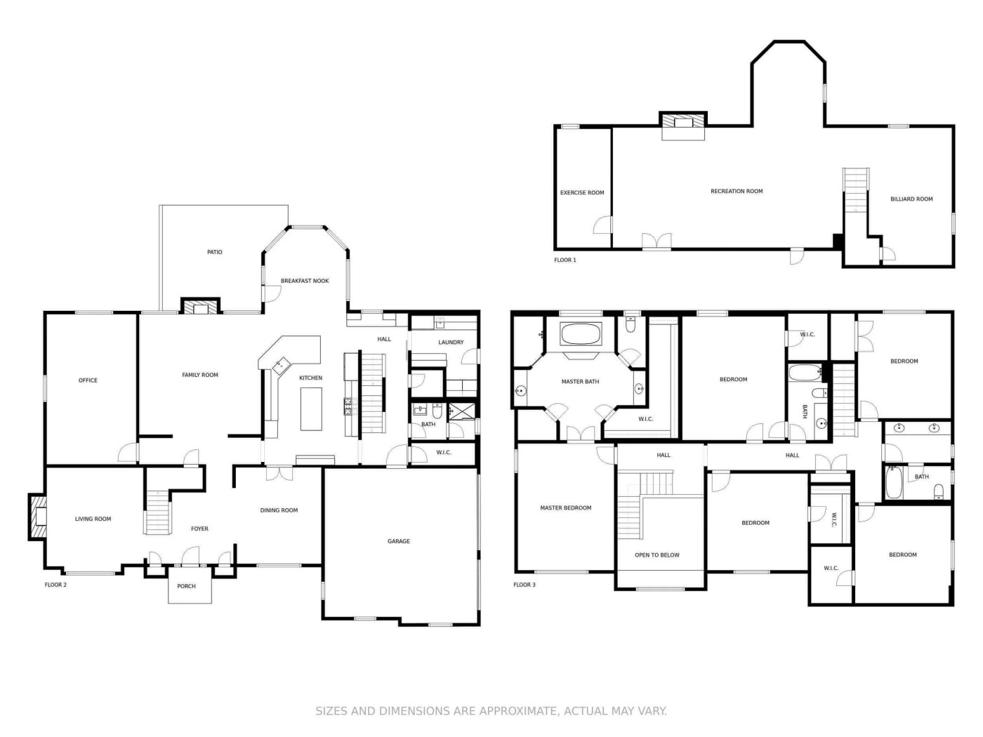 Example of a floor plan services for a real estate agents