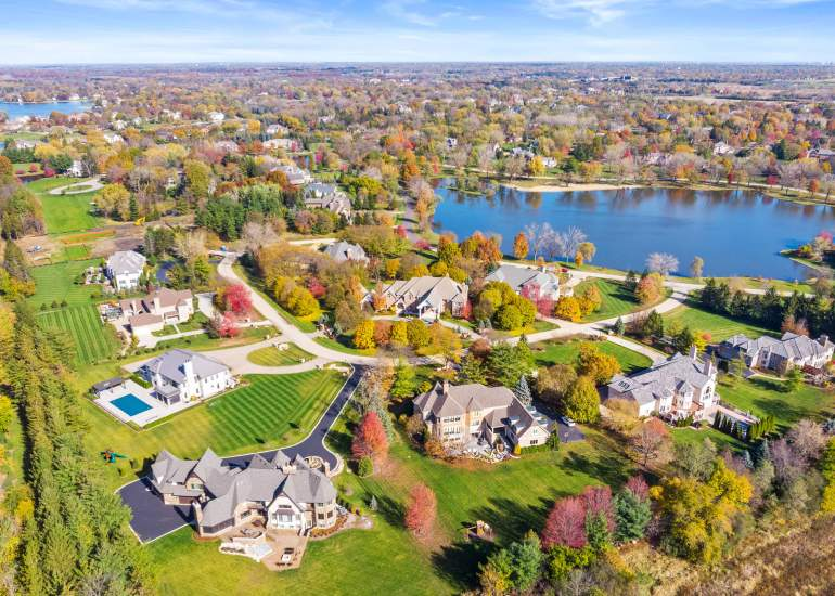 aerial photography of real estate property
