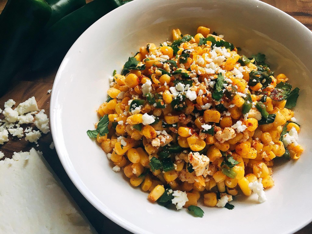 This fast and fresh salsa combines all the flavors of Mexican Street Corn into a convenient and healthy salsa! Takes just 5 minutes to make and also tastes great on tacos, enchiladas, and more! | Three Olives Branch