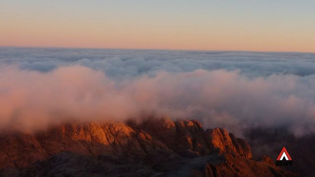 Jebel el Ahmar, under clouds, Three Peaks Egypt, Ben Hoffler