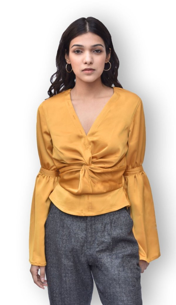 Ochre Twisted Top