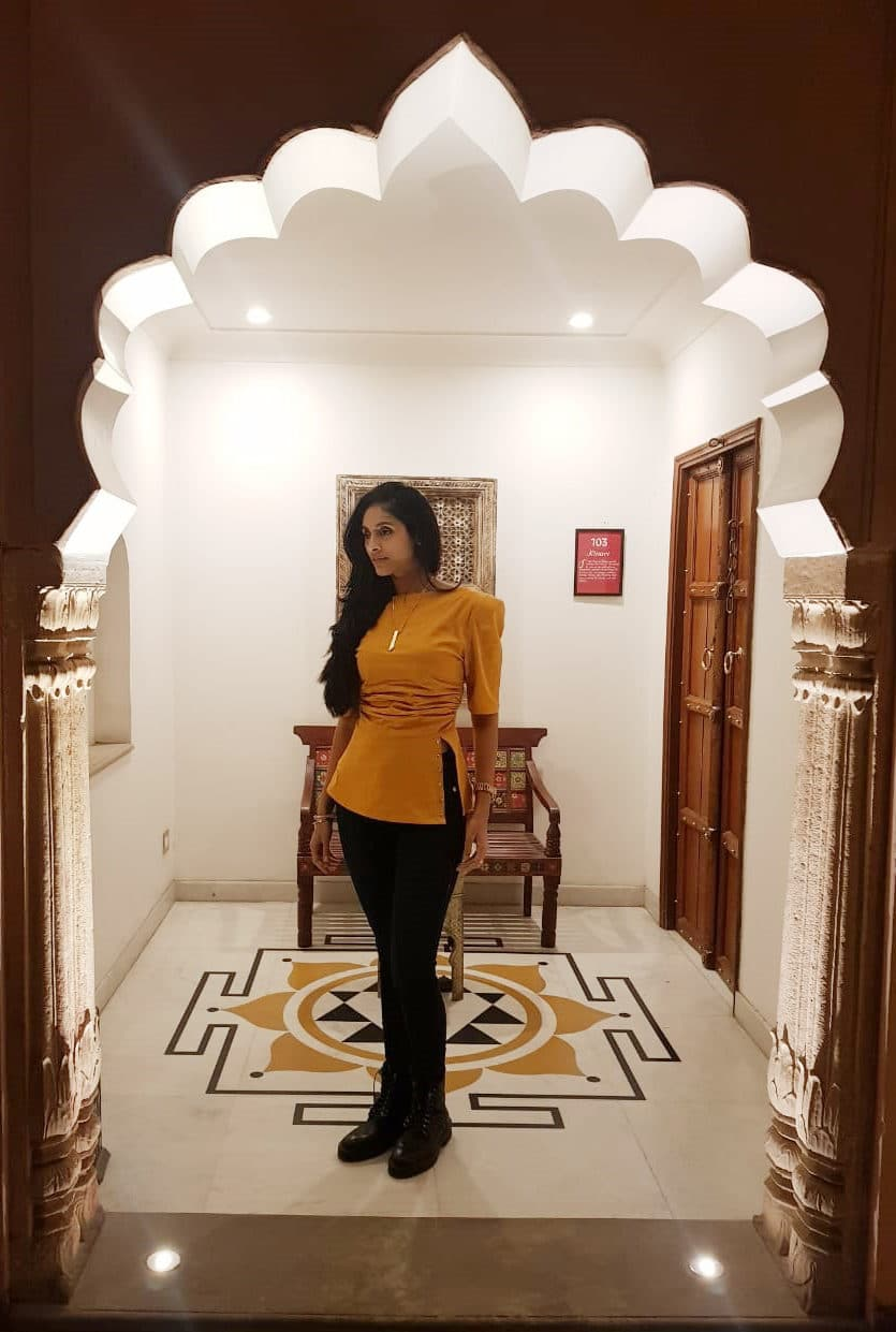 Pavleen Gujral in Three Piece Company Gathered Waist Top