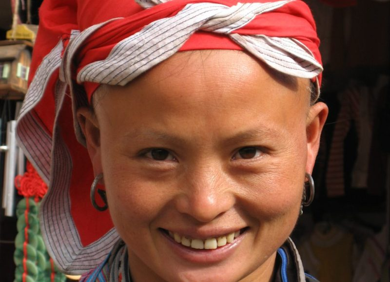 Sapa operator from the local Hmong tribe