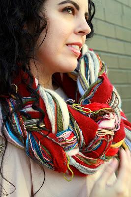 four strand scarf