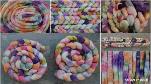 Merino/Stellina hand dyed by LeAndra of Created by Elsie B
