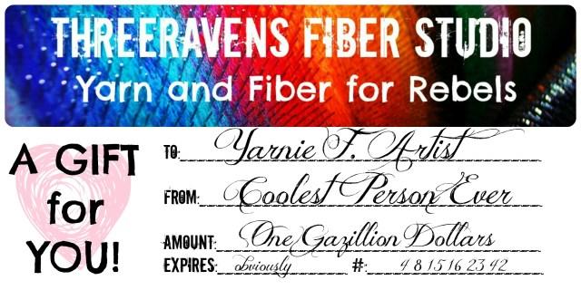 three ravens gift certificate