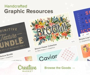 Creative Market has fantastic resources!