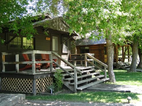 A restored cabin at Three Rivers Ranch