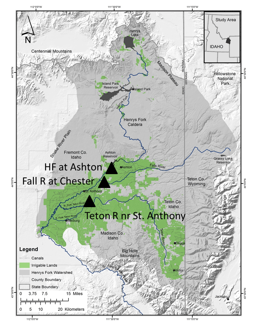 Map of Henry's Fork watershed.