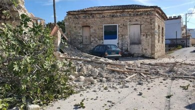 Σεισμός 6,7 Ρίχτερ βόρεια της Σάμου - Ζημιές σε παλιά σπίτια, κατέρρευσαν κτίρια στη Σμύρνη