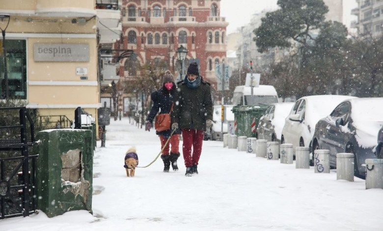"""Κακοκαιρία """"Μήδεια"""" - Χιόνια και χαμηλές θερμοκρασίες στη μισή ηπειρωτική Ελλάδα"""