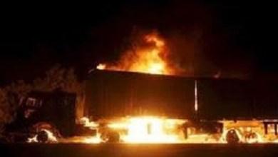 Στις φλόγες τυλίχθηκε φορτηγό στον Ασπρόπυργο