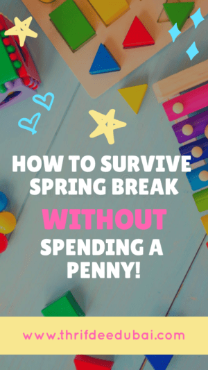 Cut spending during spring break half term holidays