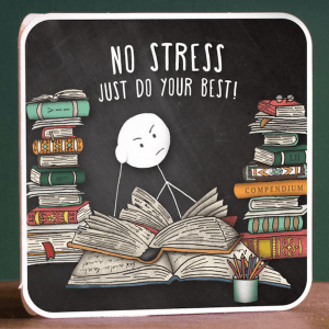 No stress good luck card exams gcse a level thrifdeedubai