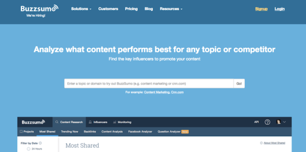 BuzzSumo Blogging Content Tools Tips Traffic SEO Blog Post Ideas ThrifDeeDubai