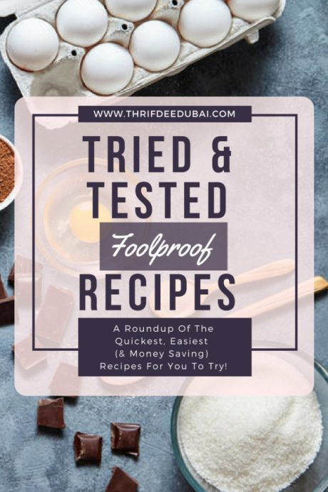 Tried Tested and Loving Recipes Baking Soups Appitiser Main Dish Chicken Hummus Bloggers Roundup ThrifDeeDubai