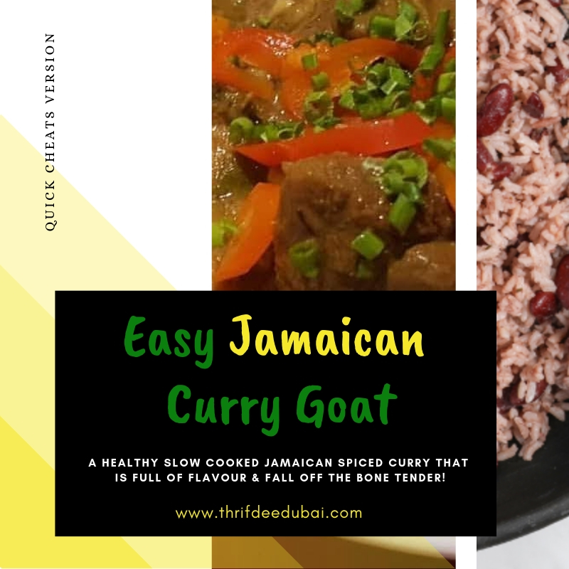 An easy to follow cheats version of a traditional Jamaican Curry Goat Recipe. Healthy slow cooked flavourful & fall off the bone tender!