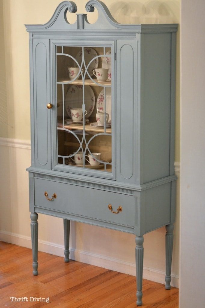BEFORE Amp AFTER My Thrifted China Cabinet Makeover