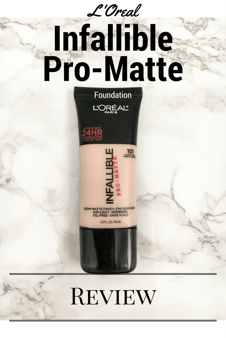 Loreal Infallible Pro Matte Foundation Review Thrifted Taylord 24hr