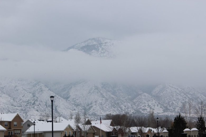 Snowy mountains in Payson Utah