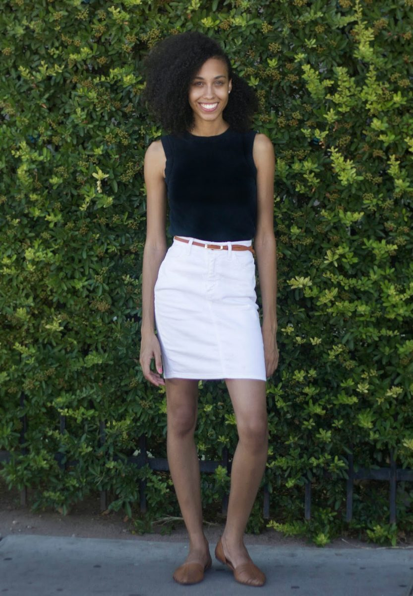 37662febe2ca Things To Wear With White Denim Skirts