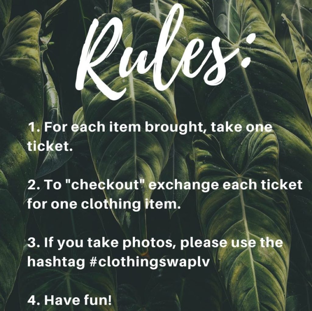 rules for clothing swap party