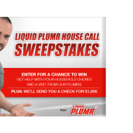 Liquid Plumr Hot Plumbers House Call Sweepstakes & Instant Win Game ends 5/20
