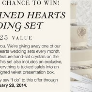 Things Remembered Intertwined Hearts Wedding Set Giveaway ends 2/28
