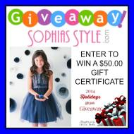 Sophias Style $50.00 Gift Card Giveaway