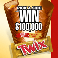 TWIX Brand Pick A Side Game & Sweepstakes ends 12/31