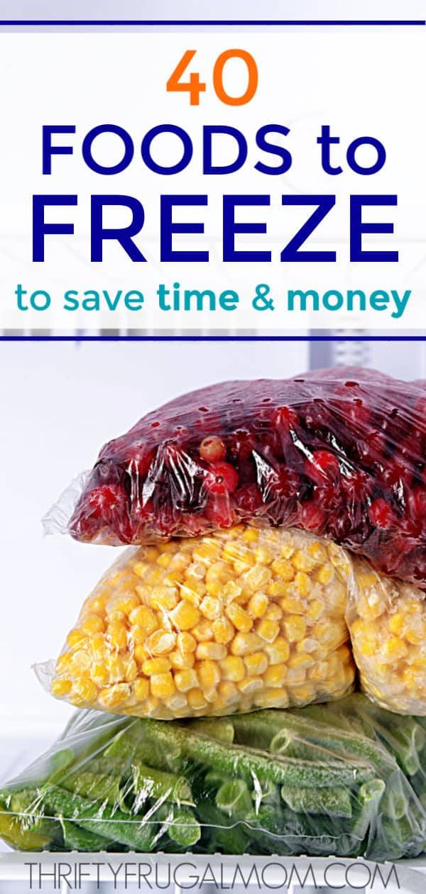 food to freeze