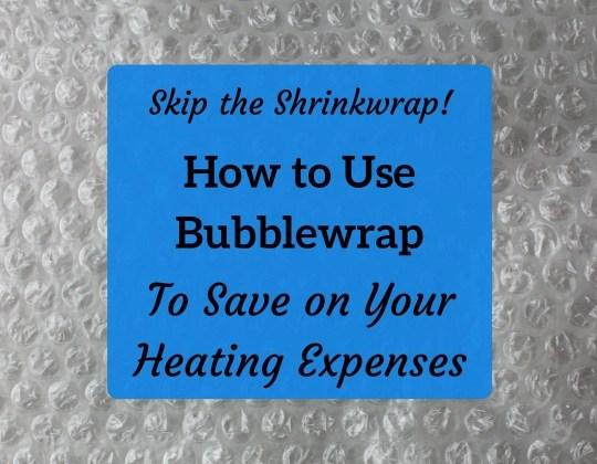 bubble wrap windows method