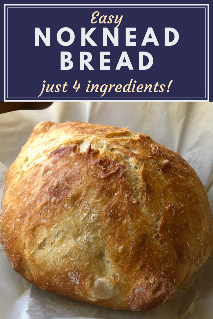 This easy no knead bread recipe has my been my favorite for years and years! It's simple to make in a dutch oven using only 3 ingredients and a few basics steps to get it ready for the oven. We love it! #bread #nokneadbread #breadrecipe #easybaking #easybread