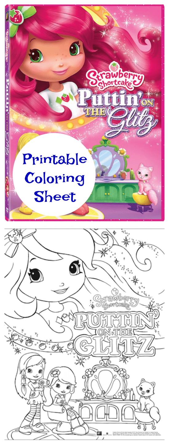 Strawberry Shortcake Puttin' on The Glitz - FREE Printable Coloring Page