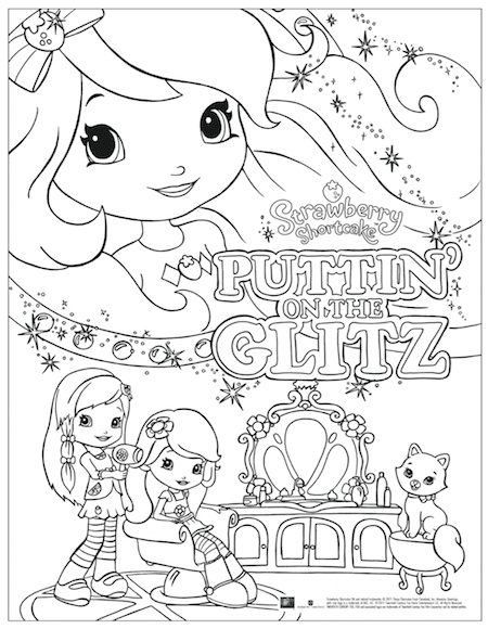 photograph about Strawberry Shortcake Printable Coloring Pages named Strawberry Shortcake: Puttin upon The Glitz - Totally free Printable
