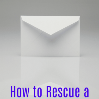 How to Rescue a Stuck Envelope - Have a new envelope that has become sealed, but you need it open again? Use this helpful tip.
