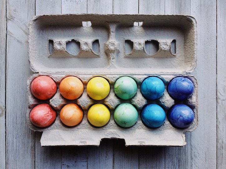 eggs with Easter Egg Dye