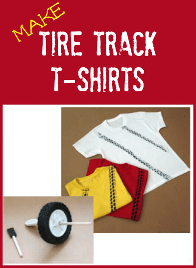 How to Make Tire Tracks T-Shirts