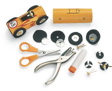 Toilet Paper Roll Race Cars Craft Supplies