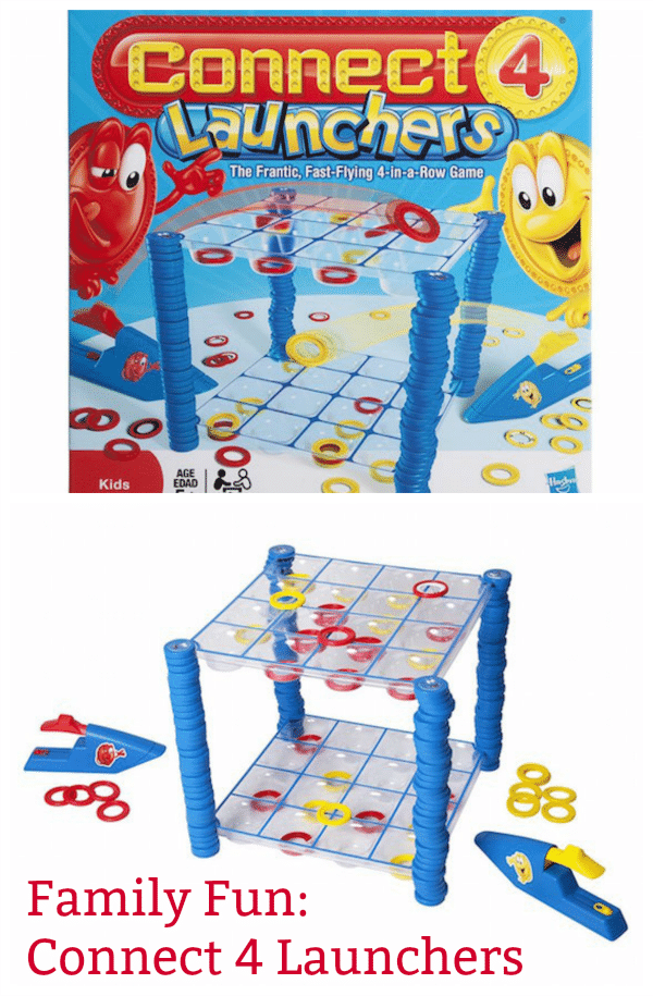 The Hasbro Connect 4 Launchers Game is fun for the whole family!