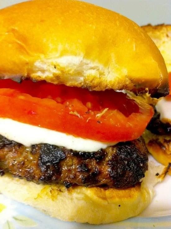 Caprese Burgers Recipe