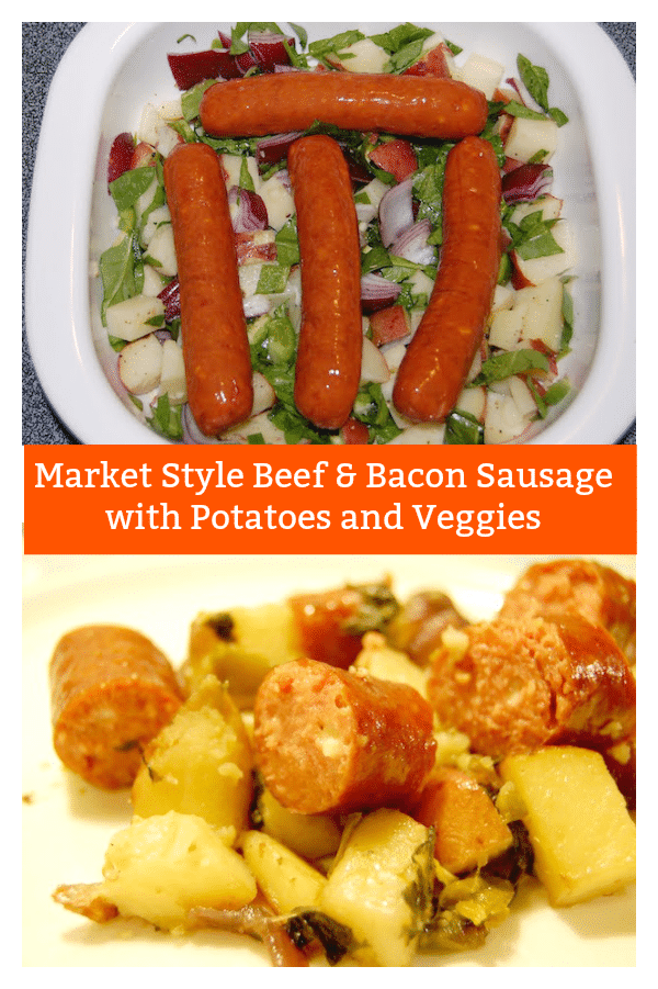 Market Style Beef & Bacon Sausage Recipe with Potatoes and Veggies