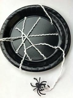 Paper Plate Spiderweb Kids Craft