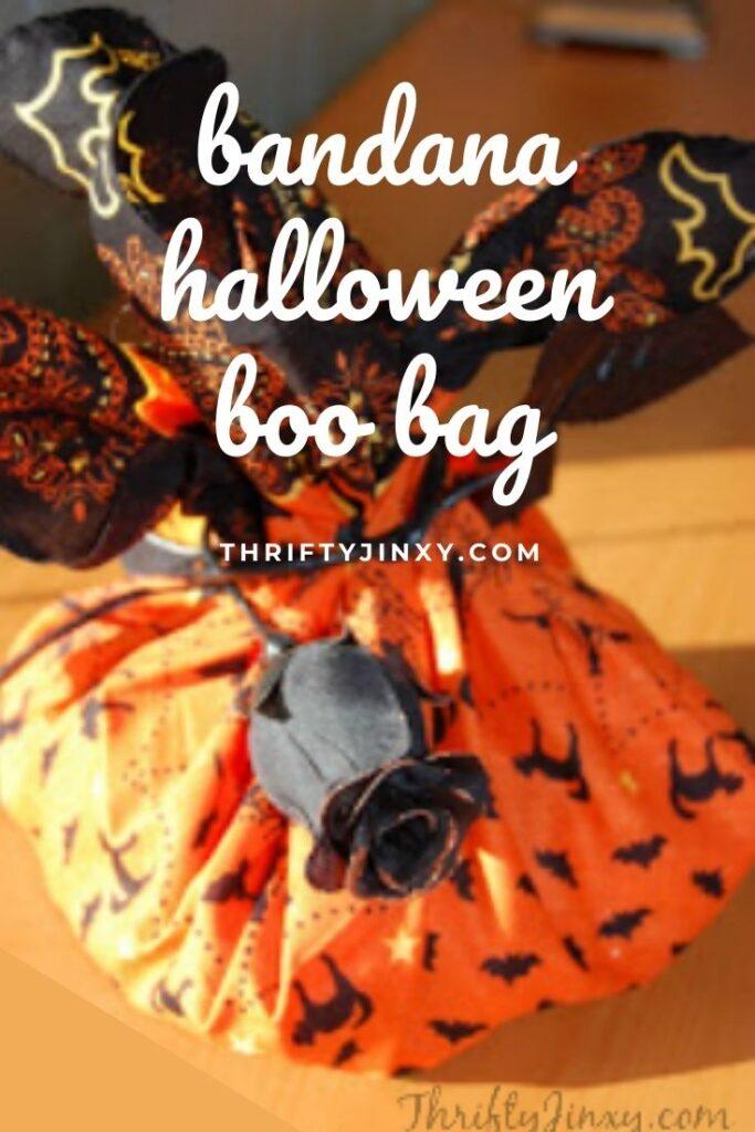 bandana halloween boo bag