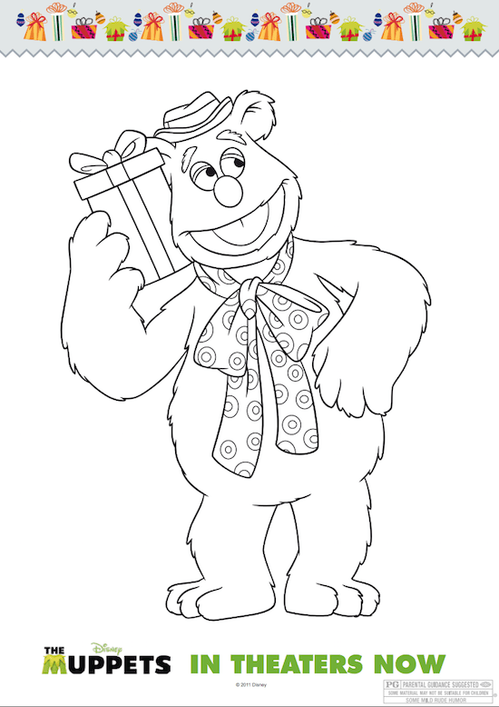 Muppets Christmas Coloring Sheets