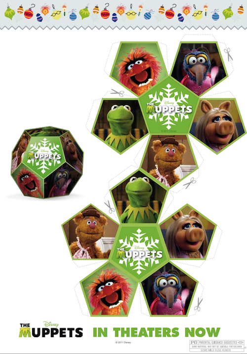 Muppets Christmas Paper Craft Snowflake
