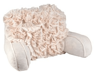 Ruffled Bed Rest Pillow