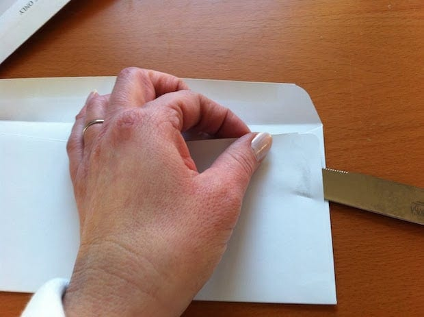 repurpose junk mail envelopes