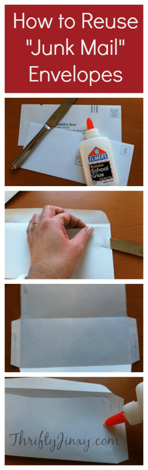 """How to Reuse """"Junk Mail"""" Envelopes"""