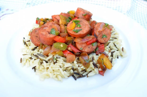 My Hillshire Farm Simplicious Turkey Polska Kielbasa Sauté Recipe Thrifty Jinxy